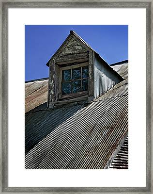 Shadows Reflections And Lines Framed Print by Murray Bloom