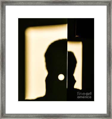 Door Shadows Framed Print by Thomas Carroll