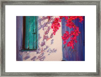 Shadows Framed Print by Yvonne Ayoub