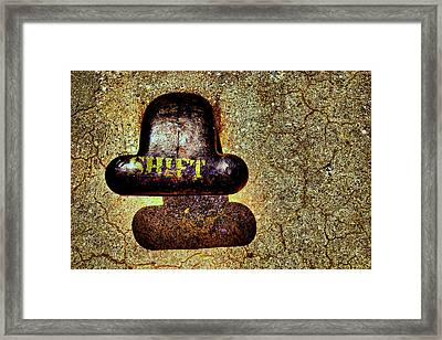 ..shadow...shift... Framed Print