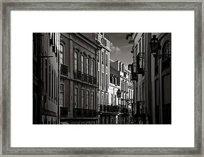Shadowy Old Lisbon Framed Print