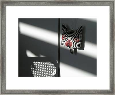 Framed Print featuring the photograph Shady Cat by Erik Falkensteen