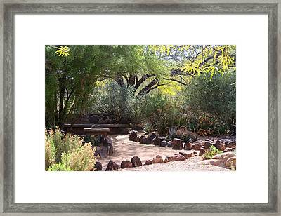 Shady Nook Framed Print
