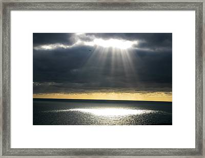 Shaft Of Light Framed Print by Milton Cogheil