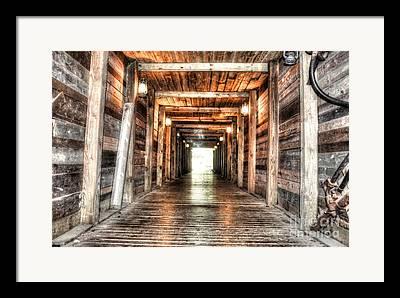 Mineshaft Wood Framed Prints