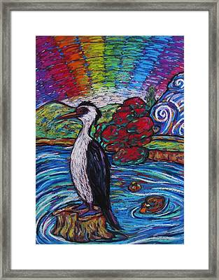 Shag On A Rock Framed Print