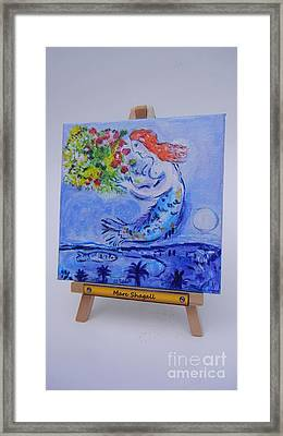 Framed Print featuring the painting Chagall's Mermaid by Diana Bursztein