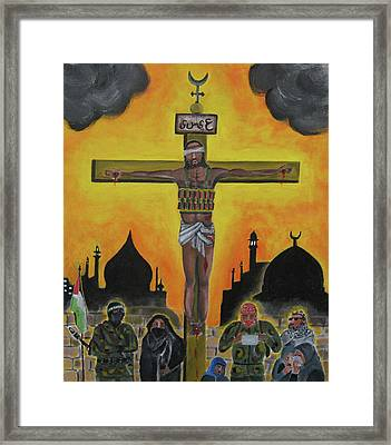Shahid Or Martyr Framed Print by Darren Stein