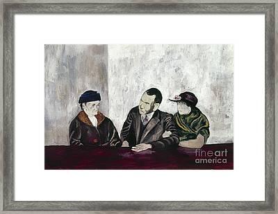Shahn: Man & Women Framed Print