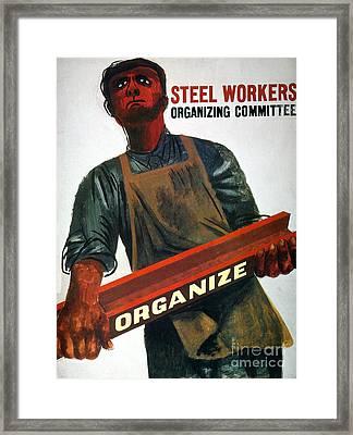 Shahn: Steel Union Poster Framed Print