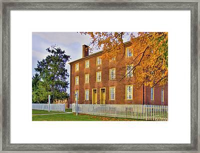 Shaker Brick Building Framed Print