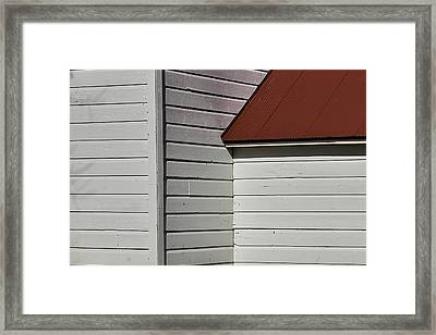 Shaker Building Detail Framed Print by Garry Gay