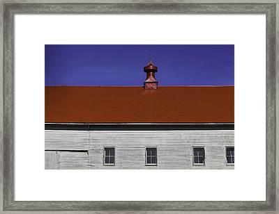 Shaker Building Framed Print by Garry Gay