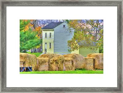 Shaker Harvest Hay Framed Print