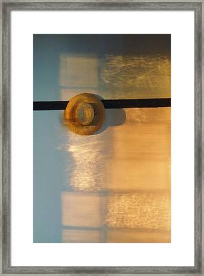 Shaker Hat Hanging On Wall, Pleasant Framed Print by Sam Abell