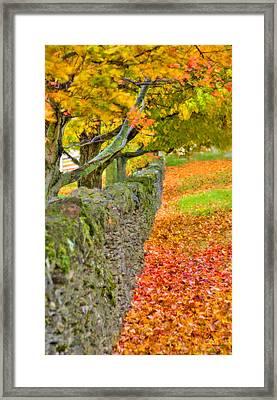 Shaker Stone Fence 3 Framed Print