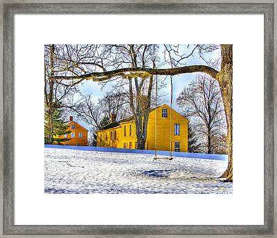 Shaker Swing In Winter 2 Framed Print