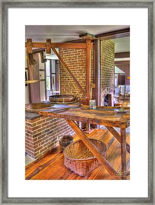 Shaker Washroom Framed Print