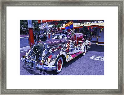 Shakes Automobile Framed Print