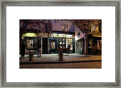 Framed Print featuring the photograph Shakespeare Book Shop 1 by Andrew Fare
