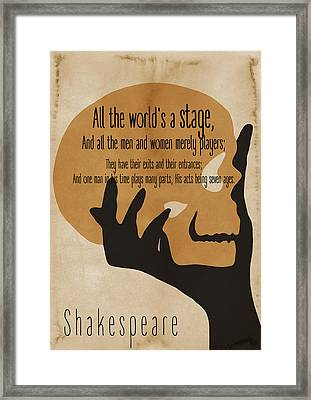 Shakespeare Philosophical Quote 2 - By Diana Van Framed Print
