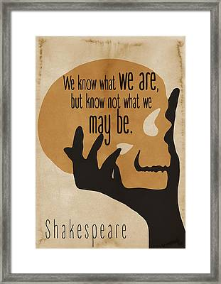 Shakespeare Hamlet Quote - By Diana Van Framed Print