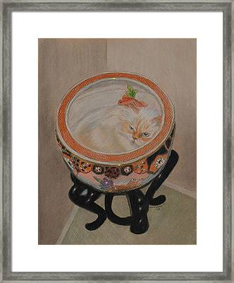 Shakespeare In A Chinese Fishbowl Framed Print by Quwatha Valentine