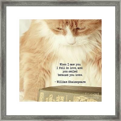 Shakespeare In Love Framed Print
