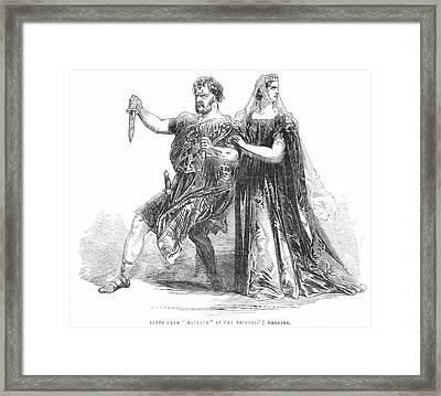 Shakespeare: Macbeth, 1845 Framed Print by Granger