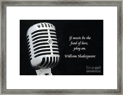 Shakespeare On Music Framed Print