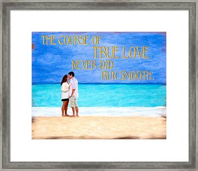 Shakespeare On True Love Framed Print