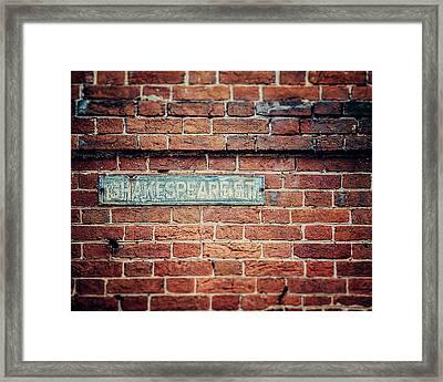 Shakespeare Street Framed Print
