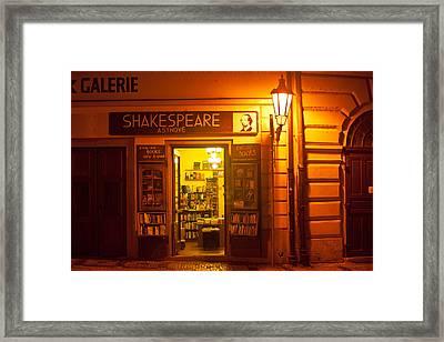 Shakespeares' Bookstore-prague Framed Print