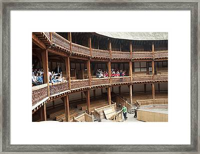 Shakespeare's Globe Theater C378 Framed Print by Charles  Ridgway