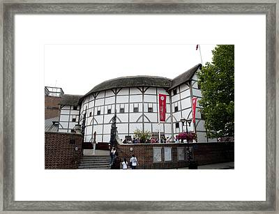 Shakespeare's Globe Theater Framed Print