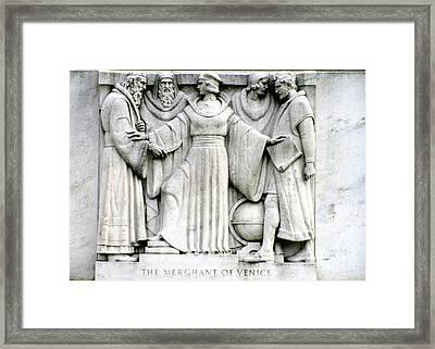 Shakespeares Merchant Of Venice Framed Print