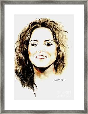 Shakira Framed Print