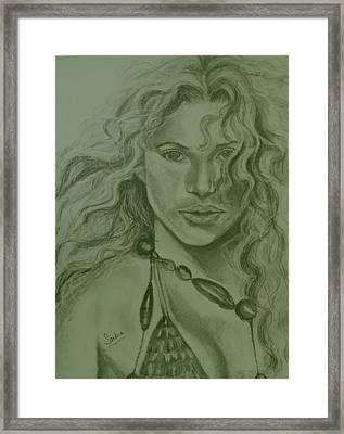 Shakira Framed Print by Sandra Valentini