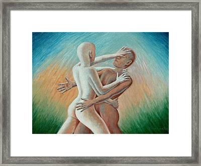 Shakti Push - Pull Framed Print by Allan OMarra