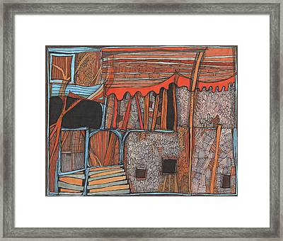 Shaky Place Framed Print