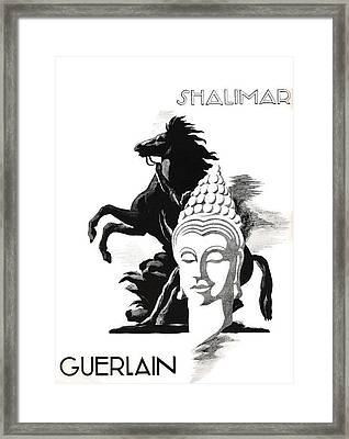 Framed Print featuring the digital art Shalimar by ReInVintaged