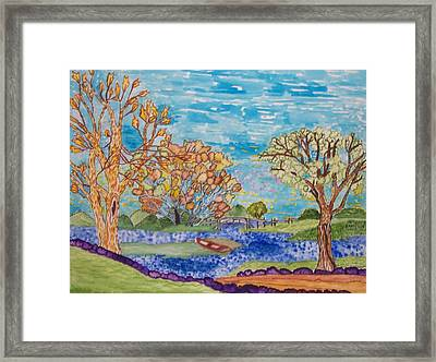 Framed Print featuring the painting Shall We Go For A Summer Walk by Connie Valasco