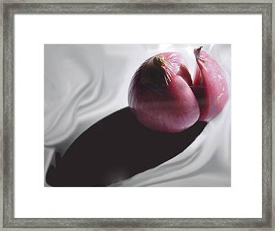 Shallot And Shadow Framed Print