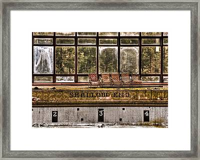 Shallow End Framed Print by Evelina Kremsdorf