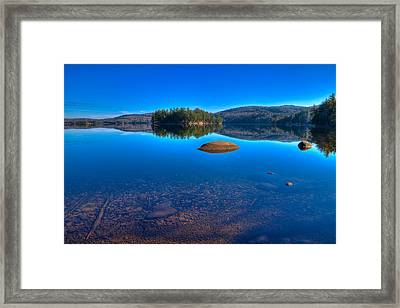Shallow Water On Seventh Lake Framed Print