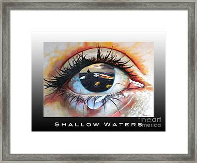 Shallow Waters  Framed Print by Linda Weinstock
