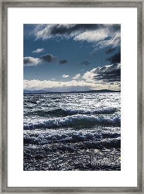 Shallows And Depths Of Adventure Bay Framed Print