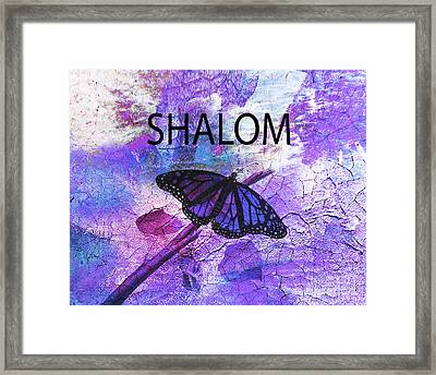 Shalom Framed Print by Beverly Guilliams
