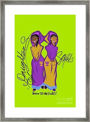 Shalom Sistas Framed Print