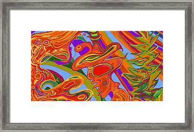 Framed Print featuring the digital art Shaman 1 by Julia Woodman
